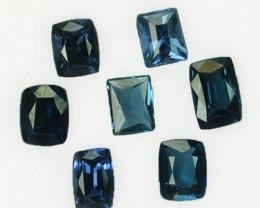 4.05 Cts Natural Deep Blue Spinel 7Pcs Cushion & Princess Cut Sri Lanka