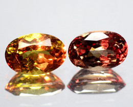 1.26 Cts 2 Pcs Untreated  Color Changing Natural Garnet Gemstone