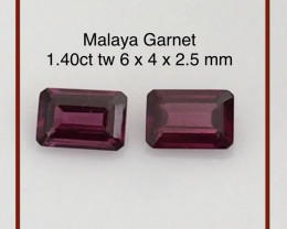 Pretty Pair of Malay Garnet - Africa