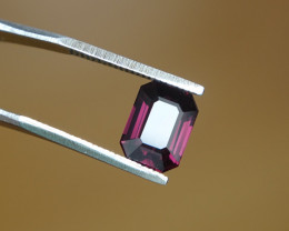2.11ct Pink-Violet Intense Spinel - Cert -