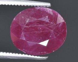 6.19 Crt  Ruby Faceted Gemstone (Rk-49)