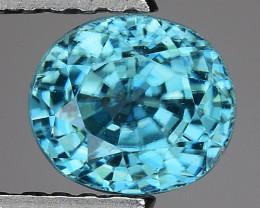1.51 CT NATURAL BLUE  ZIRCON SPARKLING LUSTER BZ1