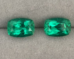 Certified *Insignificant*Ethiopian Emerald 4.32 Cts Vivid *Verdant Green*