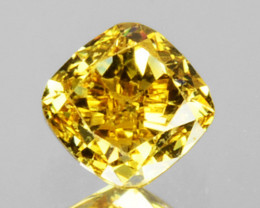 0.31 Cts Natural Untreated Diamond Fancy Yellow Cushion Cut Africa
