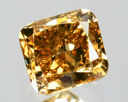 0.34 Cts Natural Untreated Diamond Fancy Yellow Cushion Cut Africa