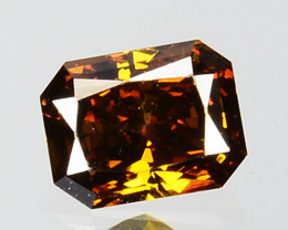 0.19 Cts Natural Untreated Diamond Fancy Yellow Octagon Cut Africa