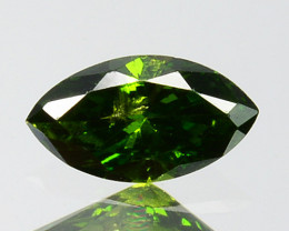 0.19Cts Natural Diamond Vivid Green Marquise Africa