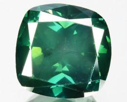 1.21 Cts Natural Diamond Flashing Green Cushion Shape  Africa