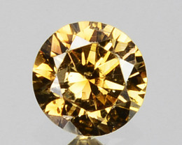 0.14 Cts Natural Untreated Diamond Fancy Yellow Round Cut Africa