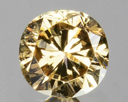 0.26 Cts Natural Untreated Diamond Fancy Yellow Round Cut Africa