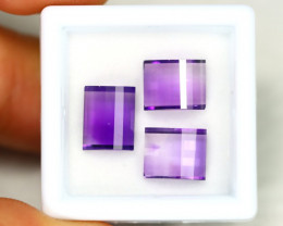 Amethyst 6.70Ct Calibrated Fancy 9x7mm Natural Purple Amethyst Lot C1505