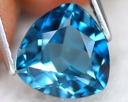 London Topaz 3.19Ct VVS Trillion Cut Natural London Blue Topaz B1503