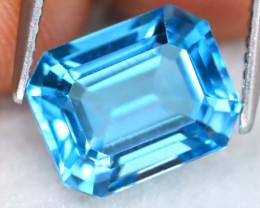 Swiss Topaz 4.17Ct VVS Octogon Cut Natural Swiss Blue Topaz B1510