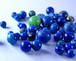214.50 CT Natural & Unheated Lapis Beads