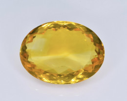15.24 Crt Natural Citrine Faceted Gemstone.( AB 77)