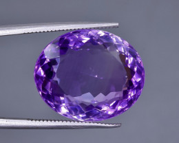 17.86 Crt Natural Amethyst Faceted Gemstone.( AB 77)