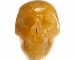 RED AVENTURINE SKULL SKELETON CARVING 95.85 CTS AG2112