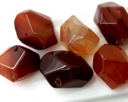 133.85CTS  CARNELIAN BEAD DRILLED (PARCEL)   ADG-158