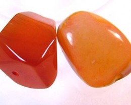 CARNELIAN BEAD DRILLED (PARCEL) 40 CTS FA-189  (AD-GR)