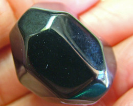 BOSTWANA BLACK AGATE FACETED BEAD DRILLED 49.90 CTS  NP-1998