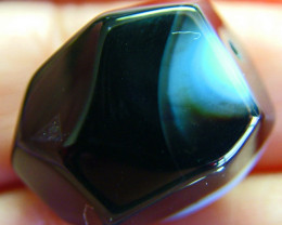 BOSTWANA BLACK AGATE FACETED BEAD DRILLED 37.65 CTS  NP-2000