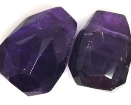 AMETHYST BEAD NATURAL DRILLED 2 PCS 26.9 CTS  NP-1304