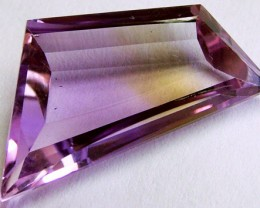 VVS1 AMETRINE FACETED  GEMSTONE BI-COLOUR   12CTS  CG-2121