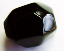BOSTWANA BLACK AGATE FACETED BEAD DRILLED 47 CTS NP-2001