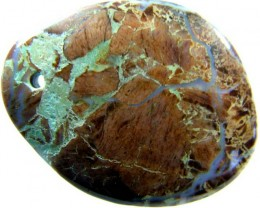 LARGE BRECIATED JASPER- -DRILLED. 84.15CTS[MX3989]