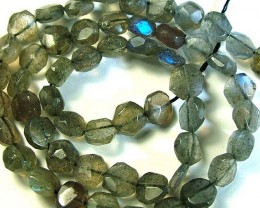 LABRADORITE BLUE FLASHY BEADS  FROM CANADA 81CTS [GT 750]