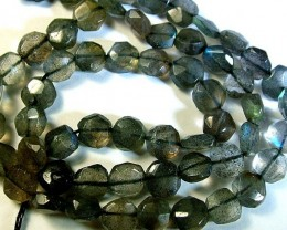 LABRADORITE BLUE FLASHY BEADS  FROM CANADA 79CTS [GT752 ]