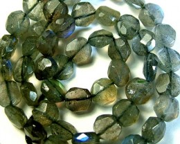 LABRADORITE BLUE FLASHY BEADS  FROM CANADA 79CTS [GT753 ]