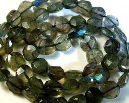 LABRADORITE BLUE FLASHY BEADS  FROM CANADA 78CTS [GT 758 ]