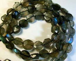 LABRADORITE BLUE FLASHY BEADS  FROM CANADA 79CTS [GT763 ]
