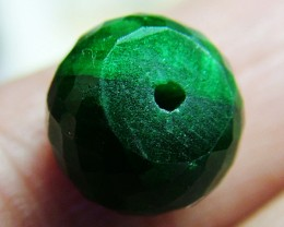 12.6 CTS EMERALD BEAD FACETED  CG-2212