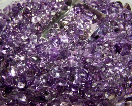 10ctw Genuine Mixed UNTREATED Amethyst Lot + FREE SAPPHIRE
