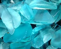 BLUE TOPAZ ROUGH SLICES-PARCEL 88CTS [F701 ]
