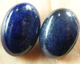 NATURAL PAIR DEEP BLUE SAPPHIRE BEADS 44.9 CTS ST 211