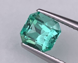 Certified Colombian Natural Emerald Top Grade Vivid Green 0.92 Cts