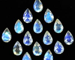 5.35 Cts Untreated Royal Blue Moonstone Pear Cut 6 X 4mm  Bihar India Parce