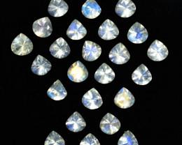 5.10 Cts Untreated Royal Blue Moonstone Heart Cut 4mm  Bihar India Parcel