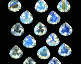 6.05Cts Untreated Royal Blue Moonstone Heart Cut Bihar India Parcel