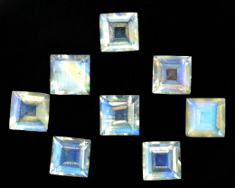 4.70 Cts Untreated Natural Royal Blue Moonstone Square Cut 5mm  Bihar India