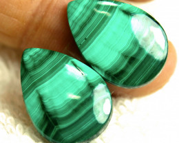 31.88 Tcw. Matched African Malachites - Gorgeous
