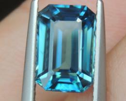 3.45cts, Blue Zircon,