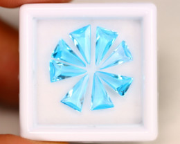 Swiss Topaz 5.41Ct Calibrated Trillion 8x5mm Natural Blue Topaz Lot C1501