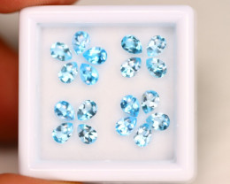 Sky Topaz 3.40Ct Calibrated Pear 4x3mm Natural Blue Topaz Lot C1603