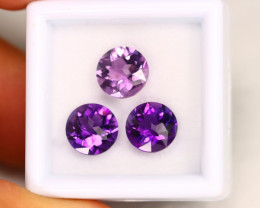 Violet Amethyst 4.69Ct Calibrated Round 8.0mm Natural Amethyst Lot C1608