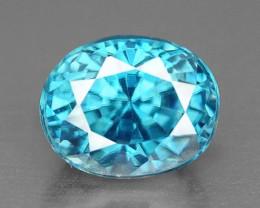 1.54 Cts Blue Zircon Natural Loose Gemstone