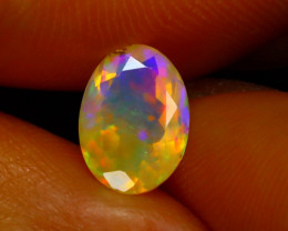 Welo Opal 1.24Ct Natural Ethiopian Play of Color Opal D2032/A3